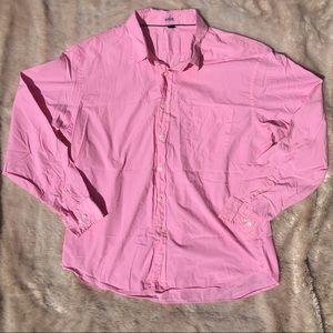 Men's J Crew Pink Button Down Shirt Size XL